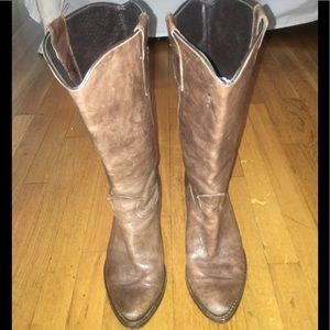 Beautiful Brown Leather Boots, Size 39, US 9